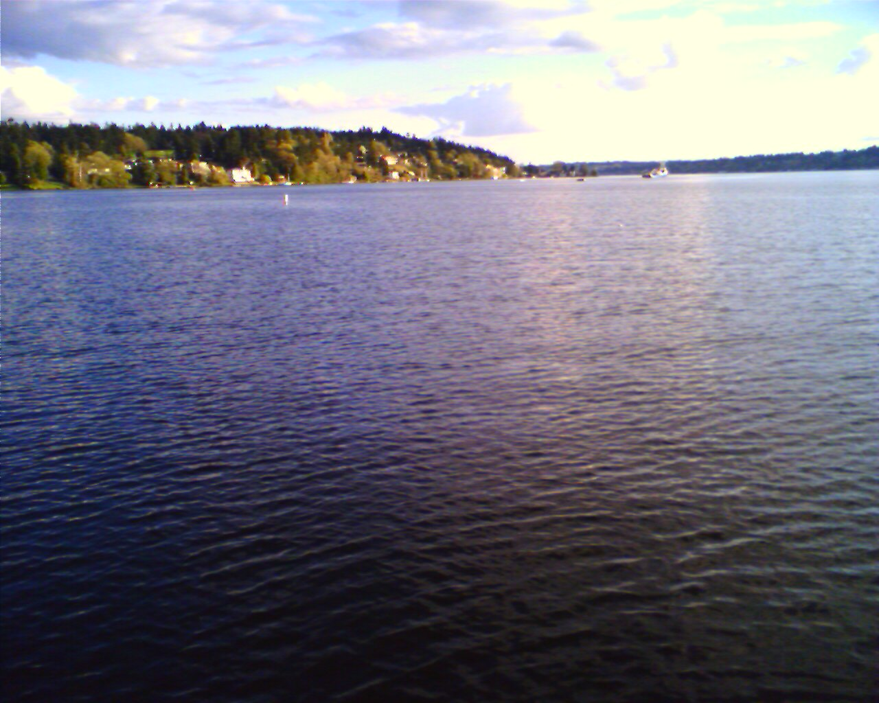 Lake washington on my bike ride