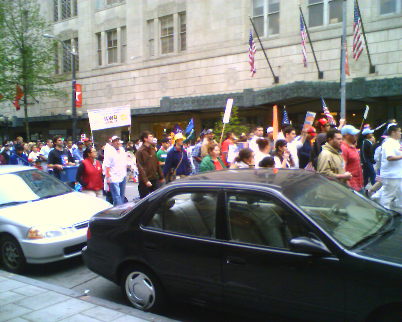May Day Protest, Downtown Seattle